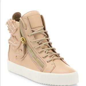 Giuseppe Zanotti Leather Wings High-Top Sneakers